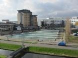 Vijver en fontein Plein van de Verenigde Naties te Zoetermeer