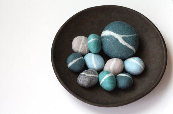 Felted Pebbles by delica on Etsy