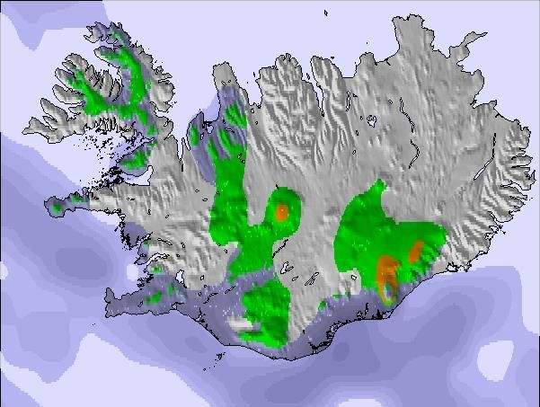 Weather Map and Snow Conditions for Iceland