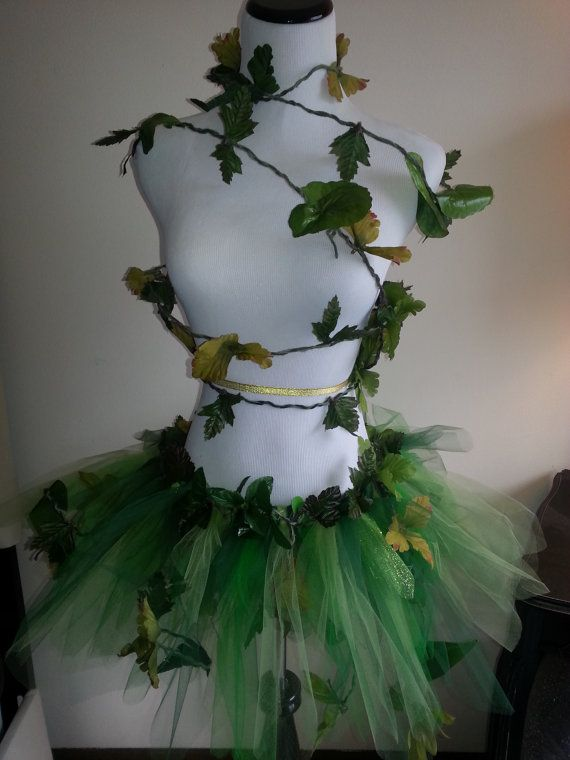 Erwachsenen Ivy Leaf Kostüm, grünes Blatt, Garten Fee, Wood Nymph, Cosplay, Anzieh, Halloween, Party