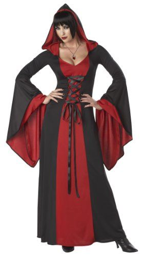 California Costumes Deluxe Hooded Robe Adult Costume Red/Black Large