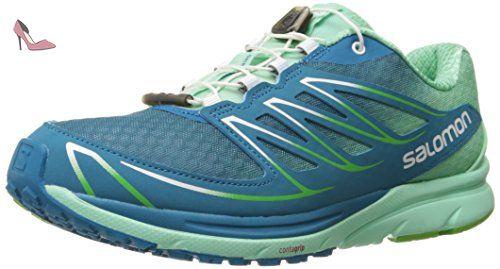 Salomon Sense Mantra 3, Chaussures de Running Compétition Femme, Bleu (Fog Blue/Lucite Green/Tonic Green), 42 EU - Chaussures salomon (*Partner-Link)