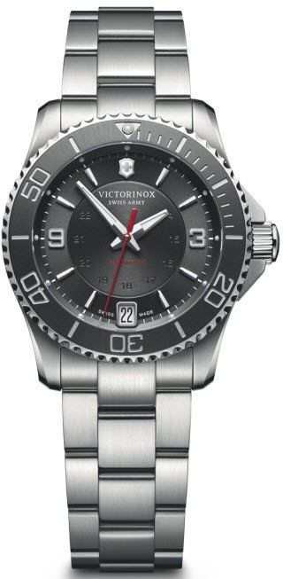 @vxswissarmy Watch Maverick Bracelet #add-content #bezel-unidirectional #bracelet-strap-steel #brand-victorinox-swiss-army #case-material-steel #case-width-34mm #classic #date-yes #delivery-timescale-1-2-weeks #dial-colour-black #gender-ladies #movement-automatic #new-product-yes #official-stockist-for-victorinox-swiss-army-watches #packaging-victorinox-swiss-army-watch-packaging #style-dress #subcat-maverick #supplier-model-no-241708 #warranty-victorinox-swiss-army-official-2-year-...