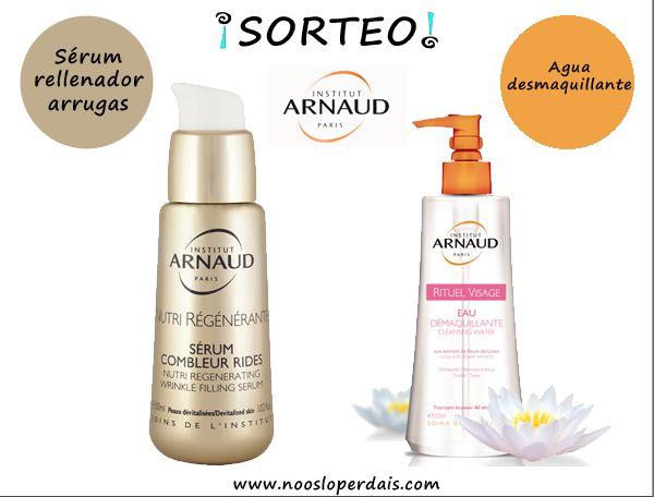 Sorteo Sérum rellenador de arrugas y agua desmaquillante de Institut Arnaud Spain
