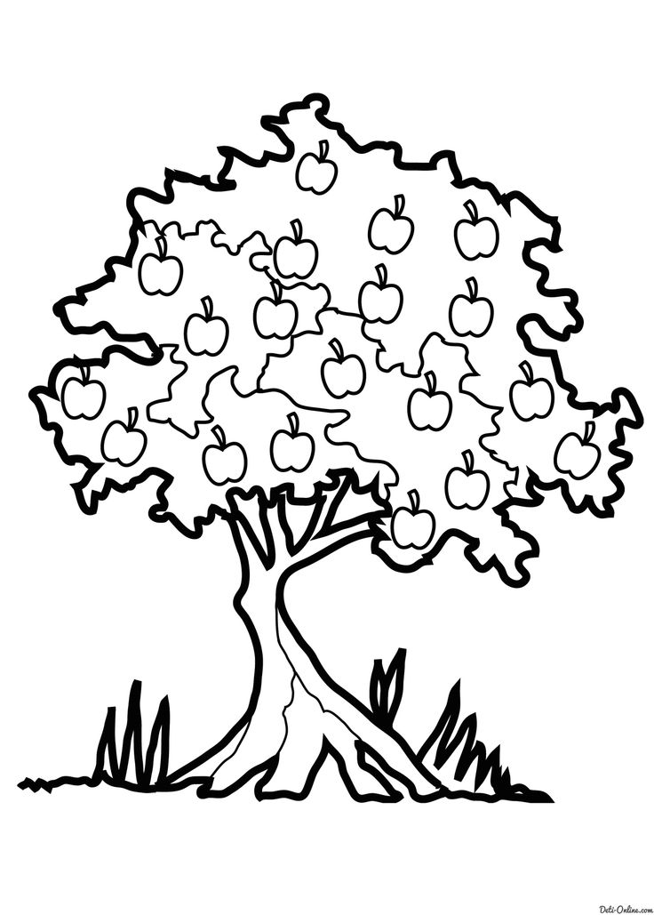 самом картинка дерева для распечатывания мороз