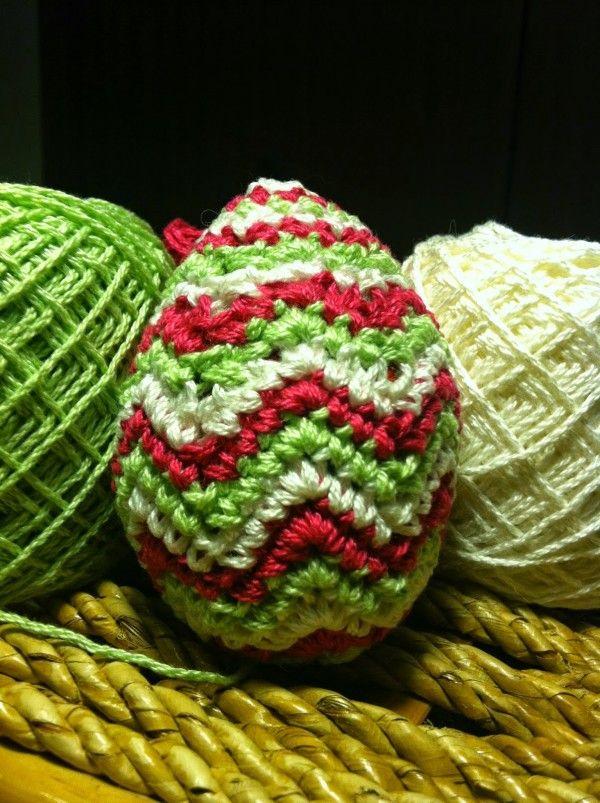 Chevron #crochet egg free pattern from @jahuston