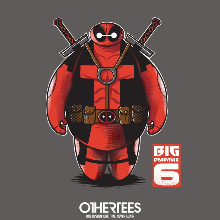 """Big Deadmax 6"" by FernandoSala T-shirts, Tank Tops, V-necks, Sweatshirts and Hoodies are on sale until February 19th at www.OtherTees.com #deadpool #baymax #marvel #marvelstudios #marvelcomics #disney #bh6 #bighero6 #bigherosix #othertees #tshirts #comics"