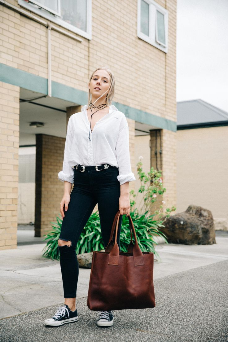 Honey & Heid.  Vintage Poppins Bag in pure leather, handmade in Melbourne, Australia