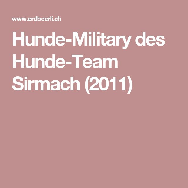 Hunde-Military des Hunde-Team Sirmach (2011)