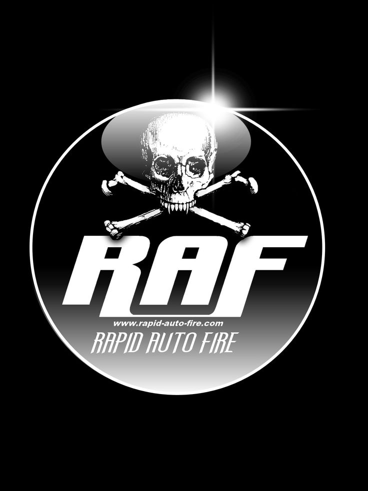 Concept & design: MOFO Graphic Rock. Logo-Button concept for the band R.A.F. (Client: R.A.F.)