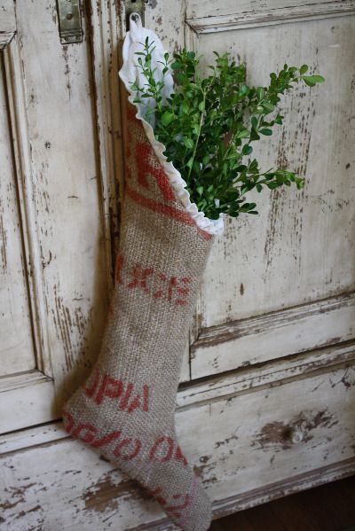 Burlap stocking.....