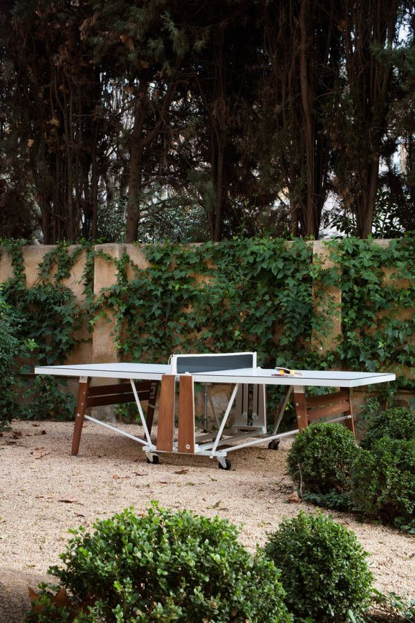A Well-Designed, Folding Ping Pong Table - Design Milk