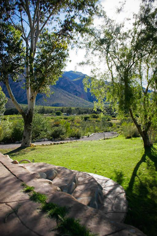 The view from the stone cottage of Montagu Guano Cave Resort. Sure Travel Blog: Weekend Getaway in Montagu, a local gem in South Africa.