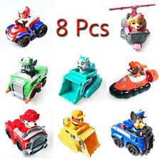 8pcs Hot PAW PATROL RESCUE Racers Pups Dog Car Toys Ryder Kids Gift With Box