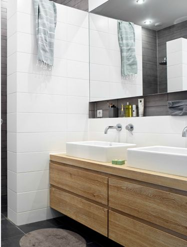Moderne badezimmermöbel doppelwaschbecken  Die besten 25+ Waschtischunterschrank holz Ideen auf Pinterest ...