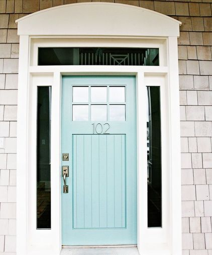 Give your front door a facelift. When was the last time you gave your front door a second thought? It contributes a lot to the first impression people have of your home. Is it in good shape? Could it use new hardware? A new color? Consider adding something new, such as fresh potted plants in hefty urns to flank your entrance, a stately door knocker or modern house numbers.