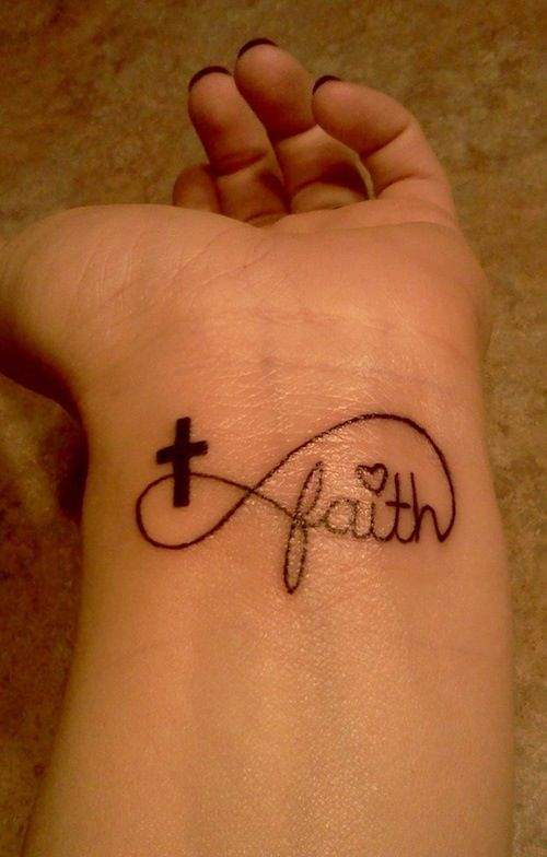 Infinity tattoo with faith. Love it.