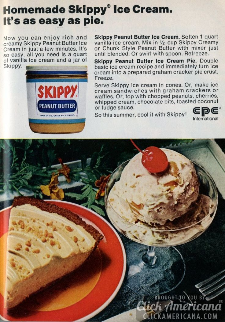 Share Tweet + 1 Mail Homemade Skippy Ice Cream. It's as easy as pie. Now you can enjoy rich and creamy Skippy Peanut Butter ...