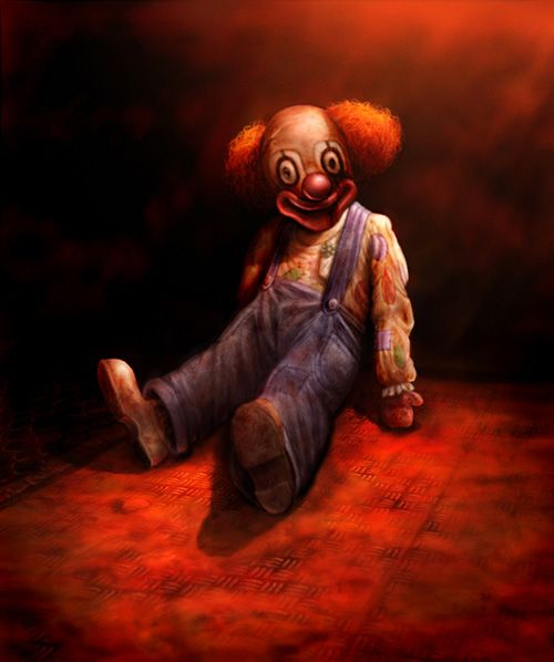 evil clowny by nightrhino on DeviantArt |Creepy Clown Painting