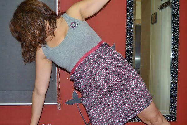 Hacer un vestido reciclando camisetas