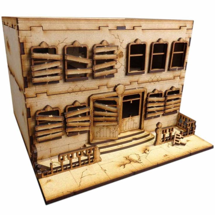 This Abandoned Apartment building is made from 3mm MDF, easy to put together and looks great on the tabletop. Great scenery to use with Batman and 28-35mm warga