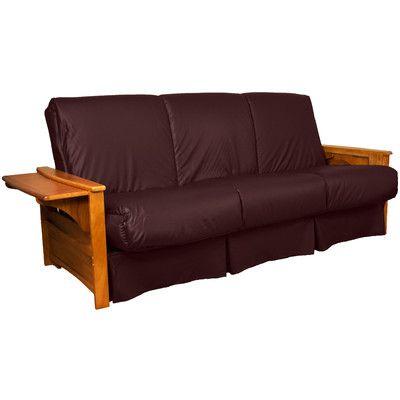 Valet Perfect Sit and Sleep Futon and Mattress Leather Type: Faux Leather - Bordeaux, Size: Full, Finish: Medium Oak - http://delanico.com/futons/valet-perfect-sit-and-sleep-futon-and-mattress-leather-type-faux-leather-bordeaux-size-full-finish-medium-oak-659775464/