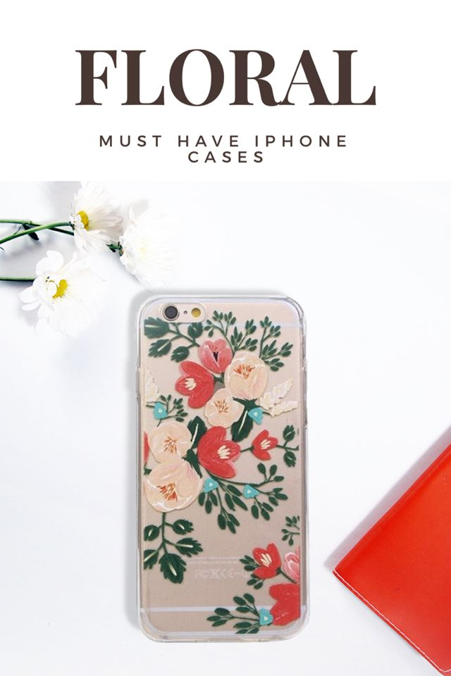 Floral Clear iPhone 6/6S Phone Cases