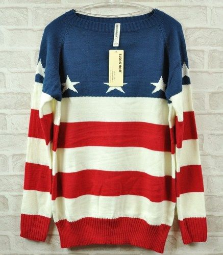 im obsessed with throwback american flag sweaters and tanks right now!!
