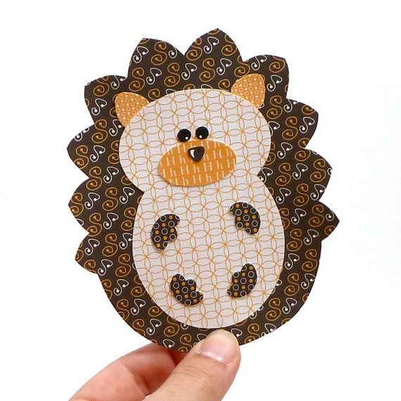 Free template - DIY Printable Layered Paper Hedgehog Pickwick