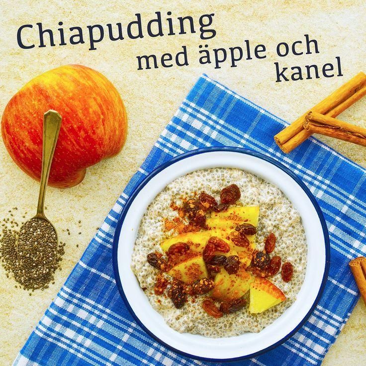 Chiapudding med äpple och kanel! Receptet finns i meny 25. 😊  www.allaater.se