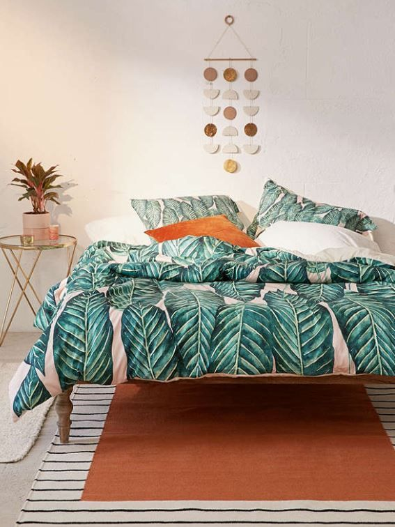 This Tropical Leaves Duvet Cover By Urban Outfitters Will Look Beautiful In Both Traditional And M Tropical Bedroom Decor Tropical Bedrooms Tropical Home Decor Show off your sleep style with beautifully ornate quilt covers. this tropical leaves duvet cover by