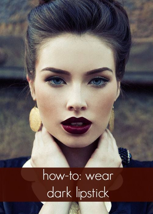An amazing way to change up your make up style. Dark lipstick is the one!!