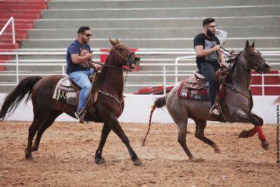Henrique e Juliano se apresentaram na prova do Team Penning em Barretos