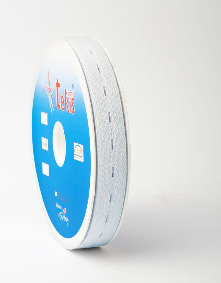 20 mm Buttonhole Elastic / 20 m / White