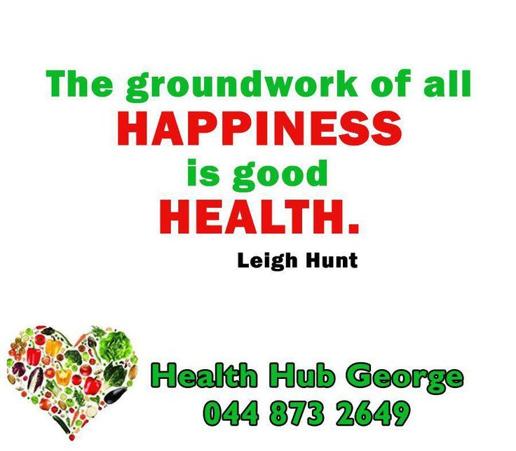 """The groundwork of all happiness is good health."" - Leigh Hunt #HealthHub #SundayMotivation"