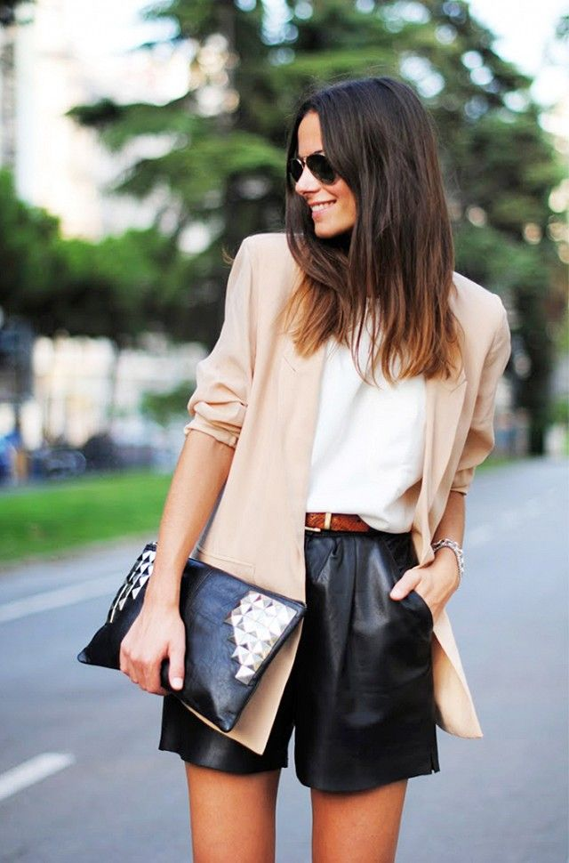 How To Get Away With Wearing Shorts At The Office via @WhoWhatWear