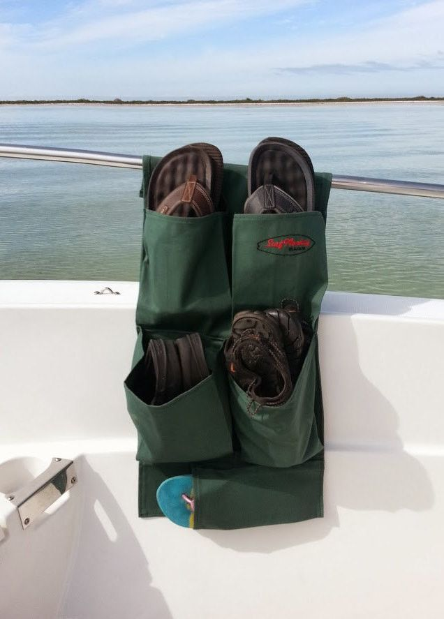 The Surfmonkey Shoe Dinghy | Marine Shoe Organizer is the first of its kind. With the mindset of keeping the deck clear and free of gear to get in your way, the Shoe Dinghy was designed to keep all yo