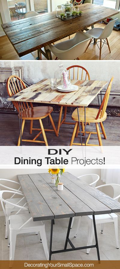 DIY Dining Table Projects with tutorials!: