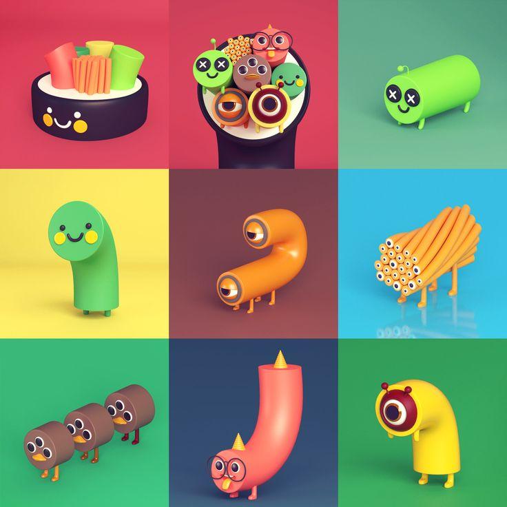 ArtStation - Gimbop Monster , 3D DALBUM