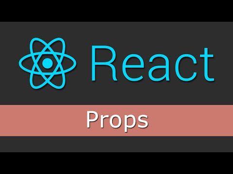 React JS Tutorials for Beginners - 5 - Props - YouTube