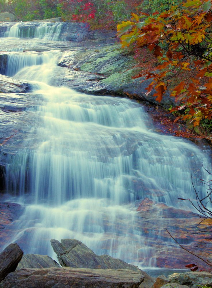 Second Falls At Graveyard Fields On The Blue Ridge Parkway