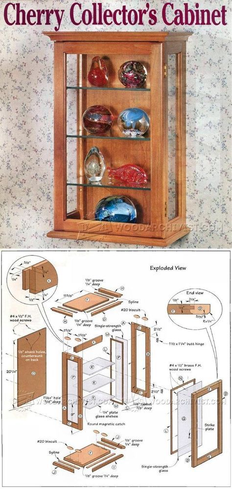 Collectors Display Cabinet Plans Furniture Plans And