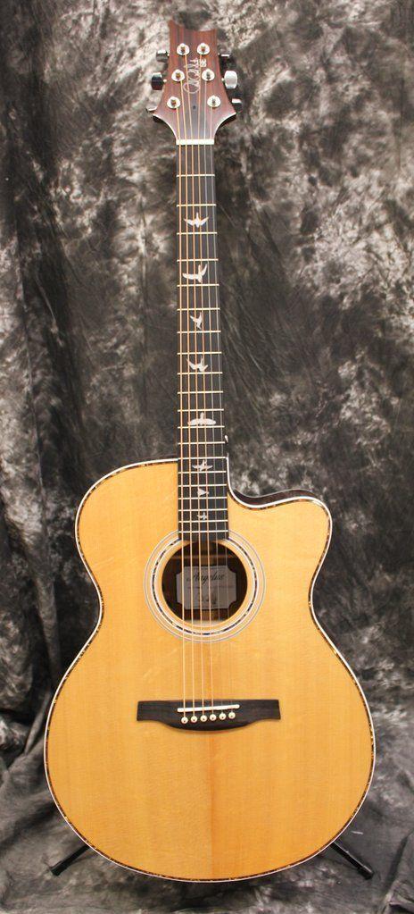 PRS SE Angelus AE40E Natural Acoustic Electric Guitar w/Case