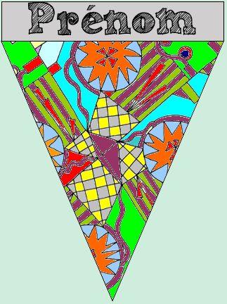 Décorons la classe ! Fanions à faire colorier par les élèves - free