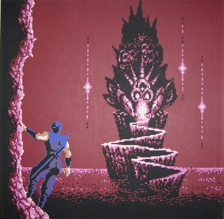 Ninja Gaiden 2 Skull Castle Created by 8-bit Artist