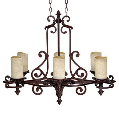 Capital Lighting 3267 6 Light Mediterranean Chandelier,