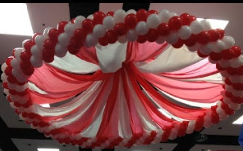 Canopy balloon decor - would be super cool in one color