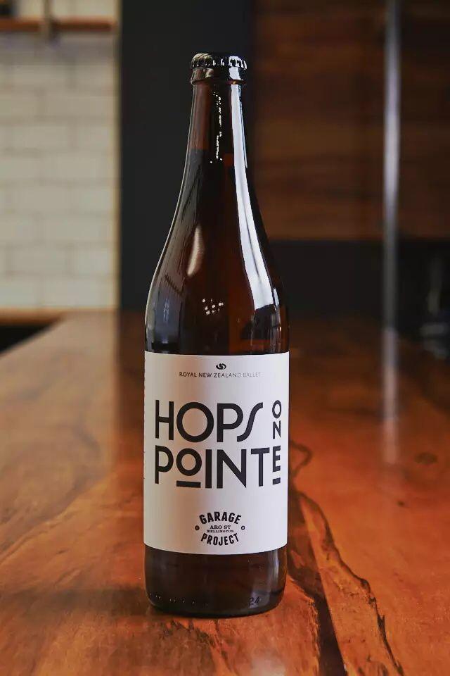Garage Project Brewery - Hops On Pointe Royal New Zealand Ballet beer. Label design.