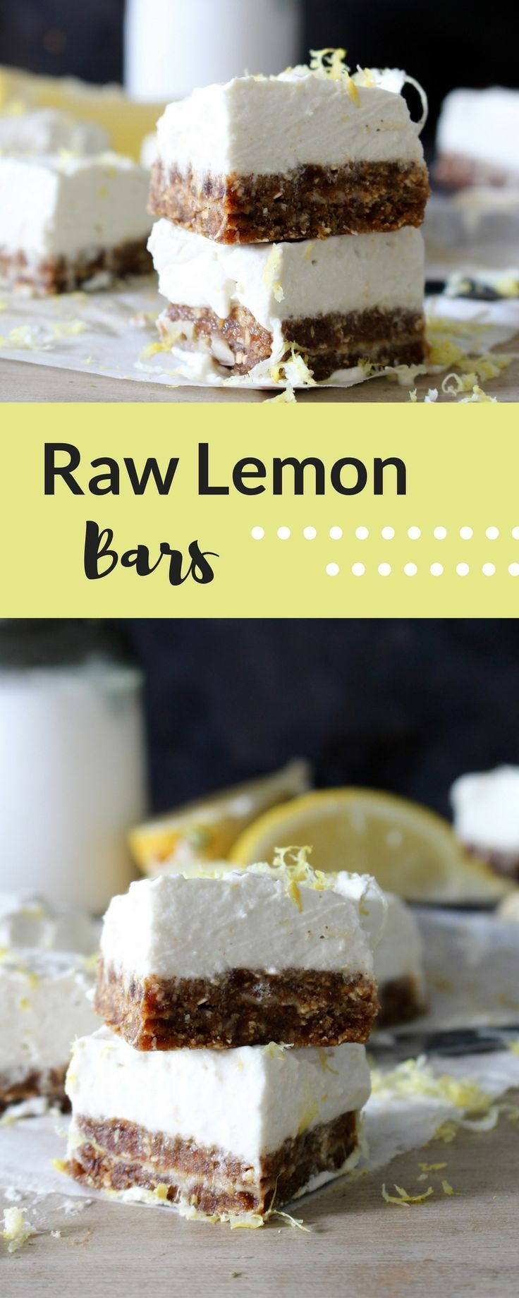 Raw Lemon Coconut Bars that are vegan and gluten free and great for sharing for dessert or keeping all to yourself!