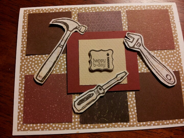 Masculine birthday card......Stampin Up